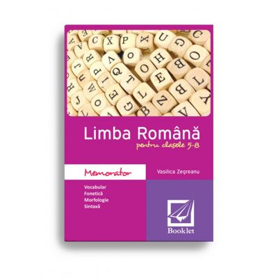 Memorator de limba română pentru clasele 5-8