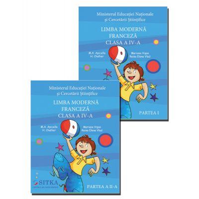 Manual pentru Limba franceza clas a IV-a Partea I + Partea a II-a ( M. A. Apicella )
