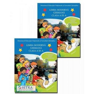 Manual de Limba moderna Germana, pentru clasa a III-a, partea I si partea a II-a - (Contine editia digitala) - M. G. Bertarini