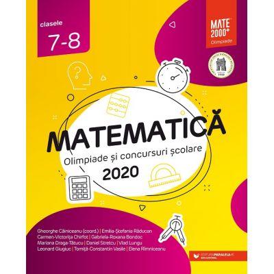 Matematică - Olimpiade şi concursuri şcolare 2020 - Clasele VII-VIII