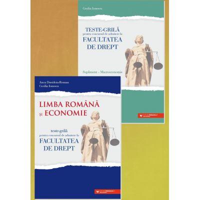 Teste-grila pentru concursul de admitere la Facultatea de Drept - Limba Romana si Economie 2021- supliment Macroeconomie - ANCA DAVIDOIU-ROMAN